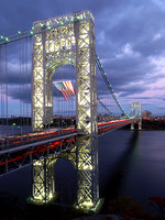 Shot on the 75th adversary of the opening of the George Washington Bridge. Featured as the winner of the Bergen County Photo Contest 2007.
