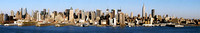 12 image panorama from Hamilton Park in Weehawken, NJ.
